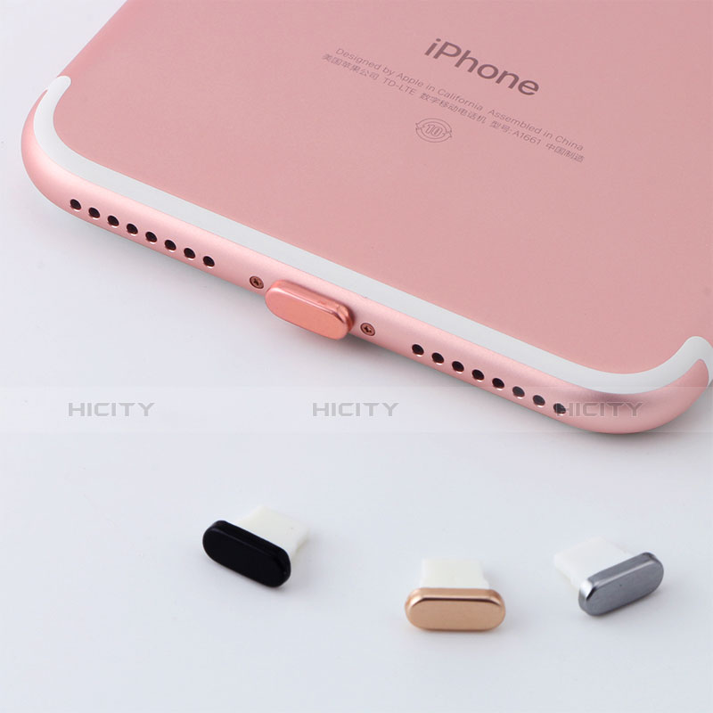 Staubschutz Stöpsel Passend Lightning USB Jack J07 für Apple iPhone 11 Pro Rosegold