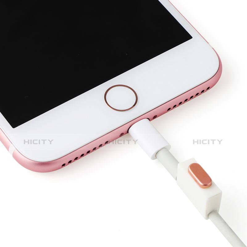 Staubschutz Stöpsel Passend Lightning USB Jack J07 für Apple iPhone 11 Rosegold groß