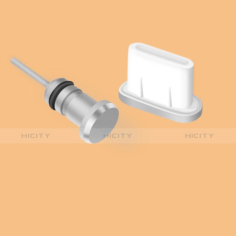 Staubschutz Stöpsel Passend USB Jack Android Type-C Universal Silber Plus