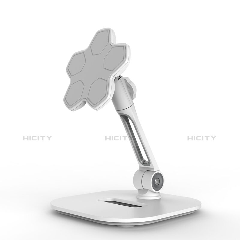 Universal Faltbare Ständer Tablet Halter Halterung Flexibel H03 für Apple iPad Pro 12.9 (2020) Weiß Plus