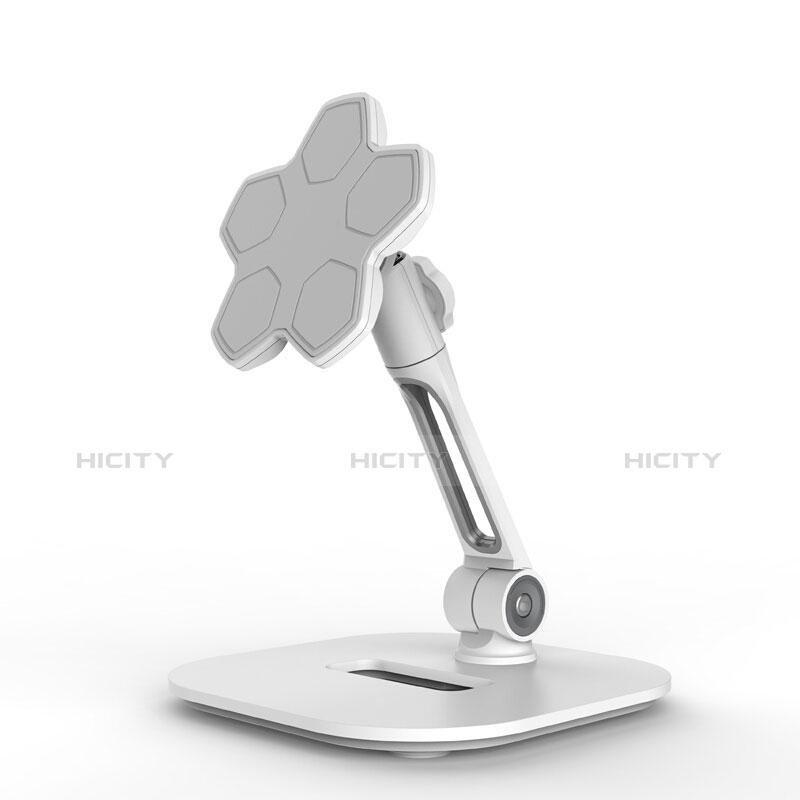 Universal Faltbare Ständer Tablet Halter Halterung Flexibel H03 für Apple New iPad 9.7 (2018) Weiß Plus