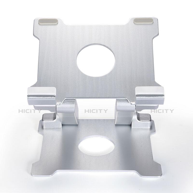 Universal Faltbare Ständer Tablet Halter Halterung Flexibel H09 für Apple New iPad 9.7 (2018) Weiß groß