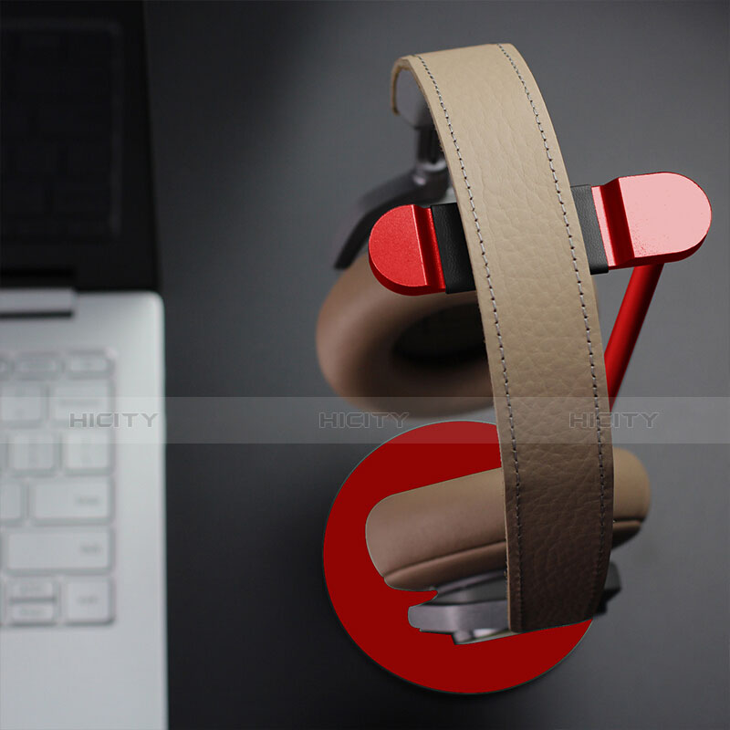 Universal Ständer Ohrhörer Headset Kopfhörer Stand H01 Rot groß
