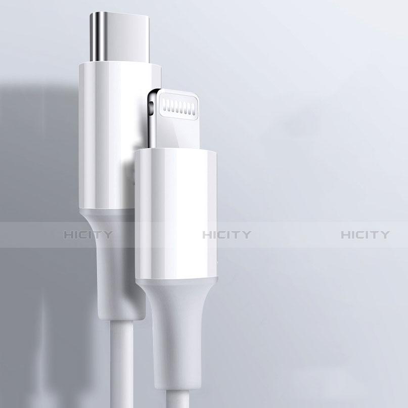 USB Ladekabel Kabel C02 für Apple iPhone 11 Weiß groß