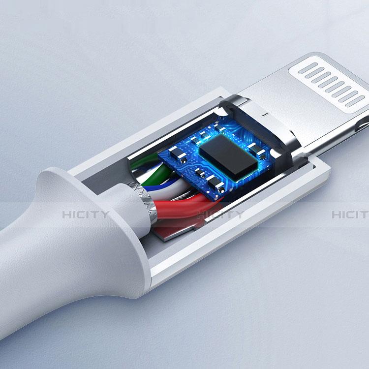 USB Ladekabel Kabel C02 für Apple iPhone 11 Weiß