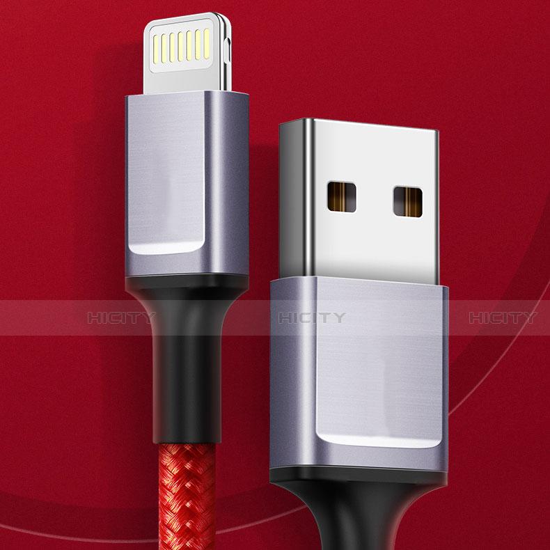 USB Ladekabel Kabel C03 für Apple iPhone 11 Pro Rot Plus