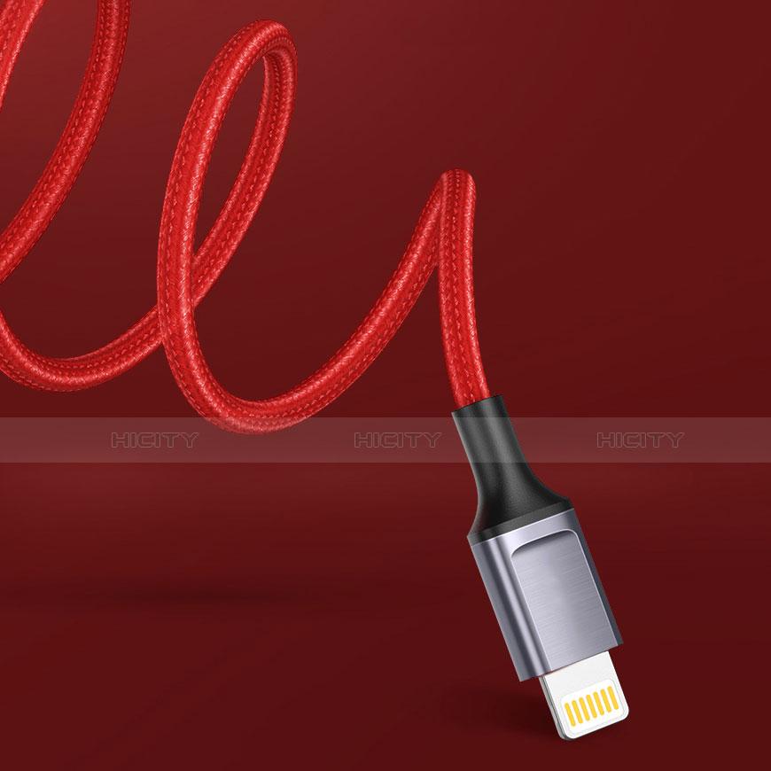 USB Ladekabel Kabel C03 für Apple iPhone 11 Pro Rot groß