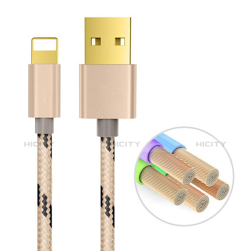 USB Ladekabel Kabel L01 für Apple iPhone 11 Gold groß