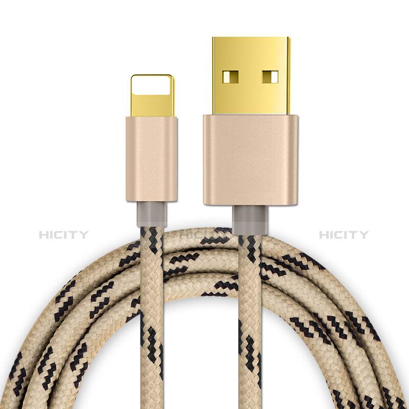 USB Ladekabel Kabel L01 für Apple iPhone 11 Pro Gold