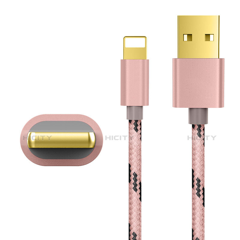 USB Ladekabel Kabel L01 für Apple iPhone 11 Pro Rosegold groß
