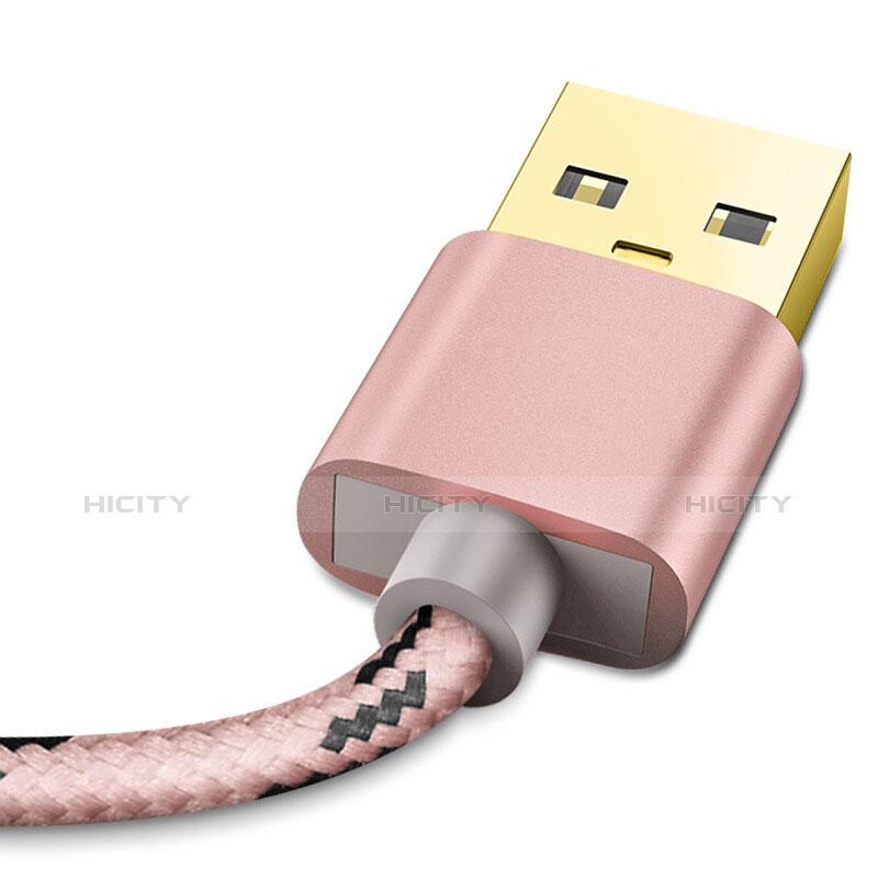 USB Ladekabel Kabel L01 für Apple iPhone 11 Rosegold groß