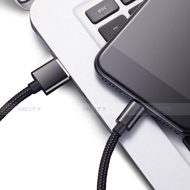 USB Ladekabel Kabel L02 für Apple iPhone 11 Pro Schwarz