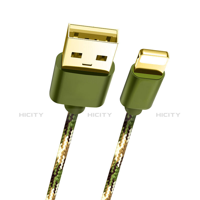 USB Ladekabel Kabel L03 für Apple iPhone 11 Grün