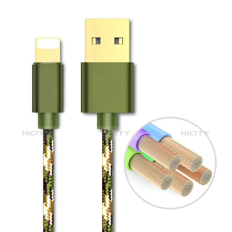 USB Ladekabel Kabel L03 für Apple iPhone 11 Pro Grün groß