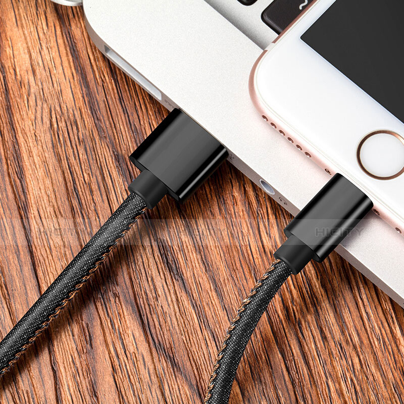 USB Ladekabel Kabel L04 für Apple iPhone 11 Pro Schwarz