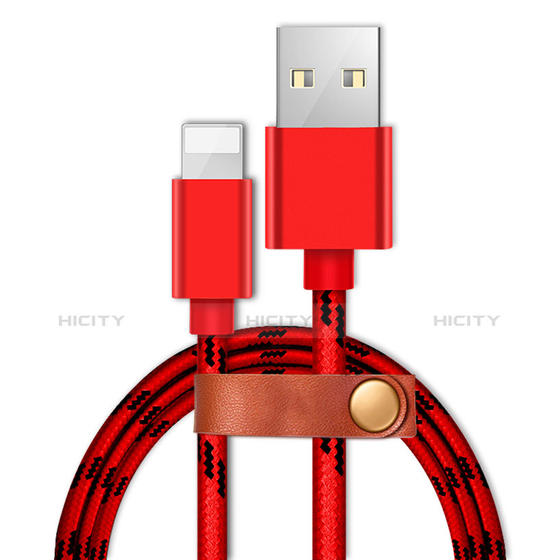 USB Ladekabel Kabel L05 für Apple iPhone 11 Rot Plus