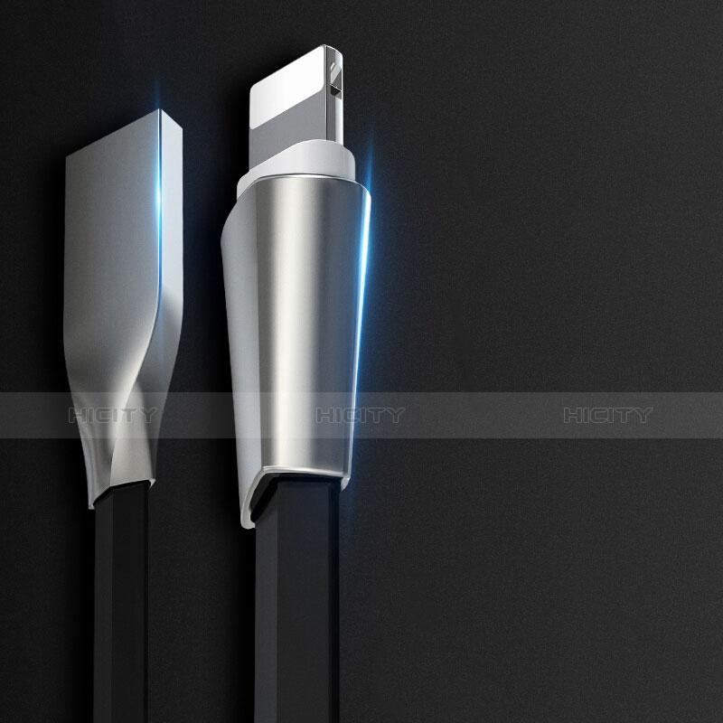 USB Ladekabel Kabel L06 für Apple iPhone 11 Pro Schwarz groß