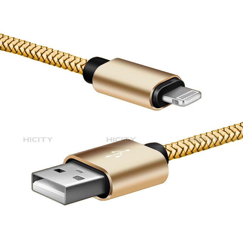 USB Ladekabel Kabel L07 für Apple iPhone 11 Pro Gold