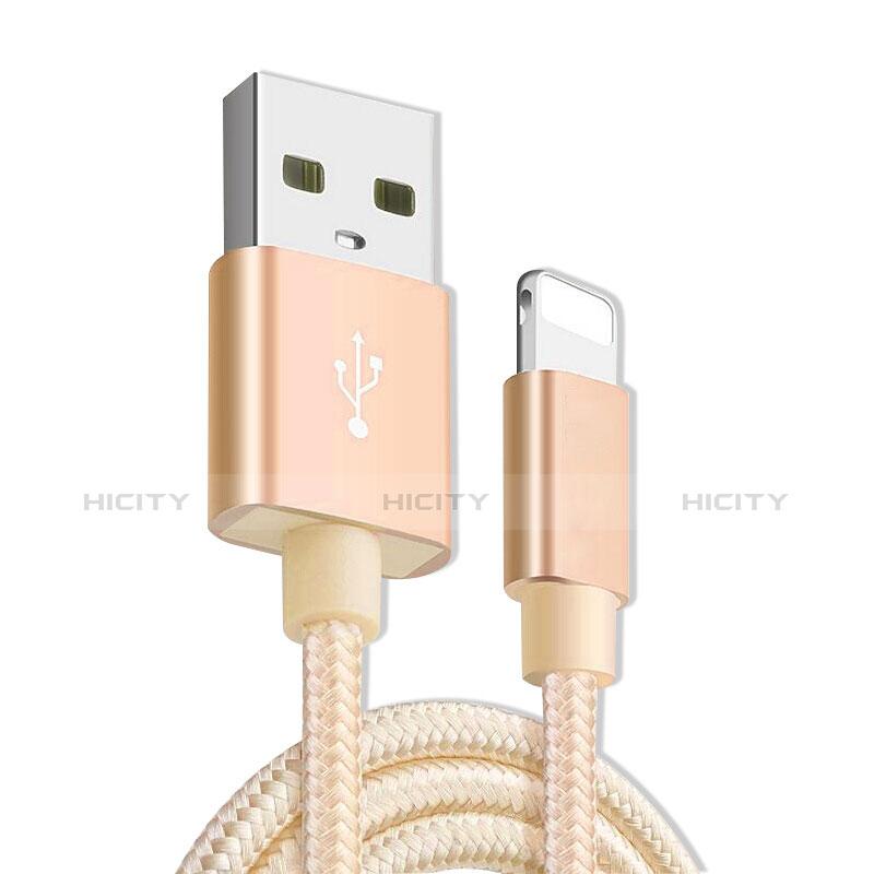 USB Ladekabel Kabel L08 für Apple iPhone 11 Gold
