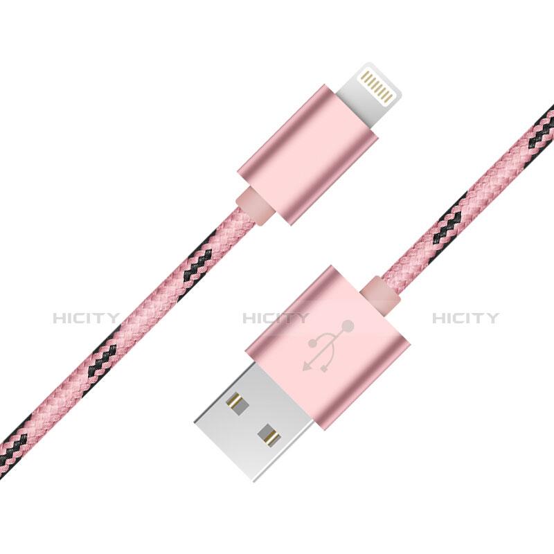USB Ladekabel Kabel L10 für Apple iPhone 11 Pro Rosa Plus