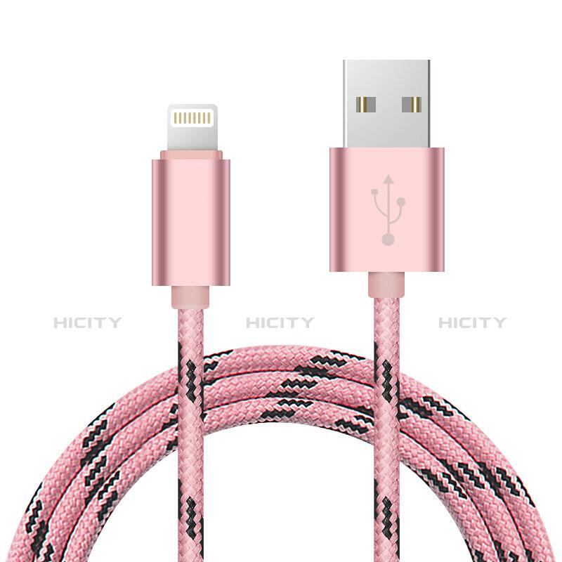 USB Ladekabel Kabel L10 für Apple iPhone 11 Rosa groß