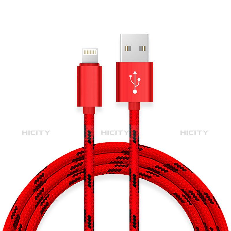 USB Ladekabel Kabel L10 für Apple iPhone 11 Rot groß