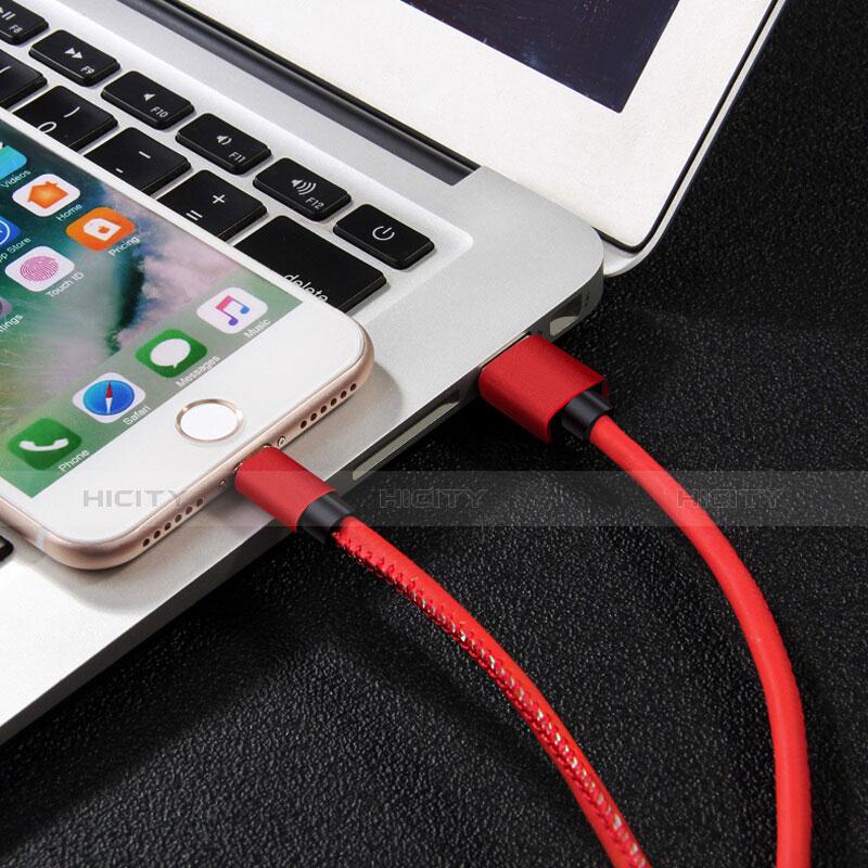 USB Ladekabel Kabel L11 für Apple iPhone 11 Pro Rot groß