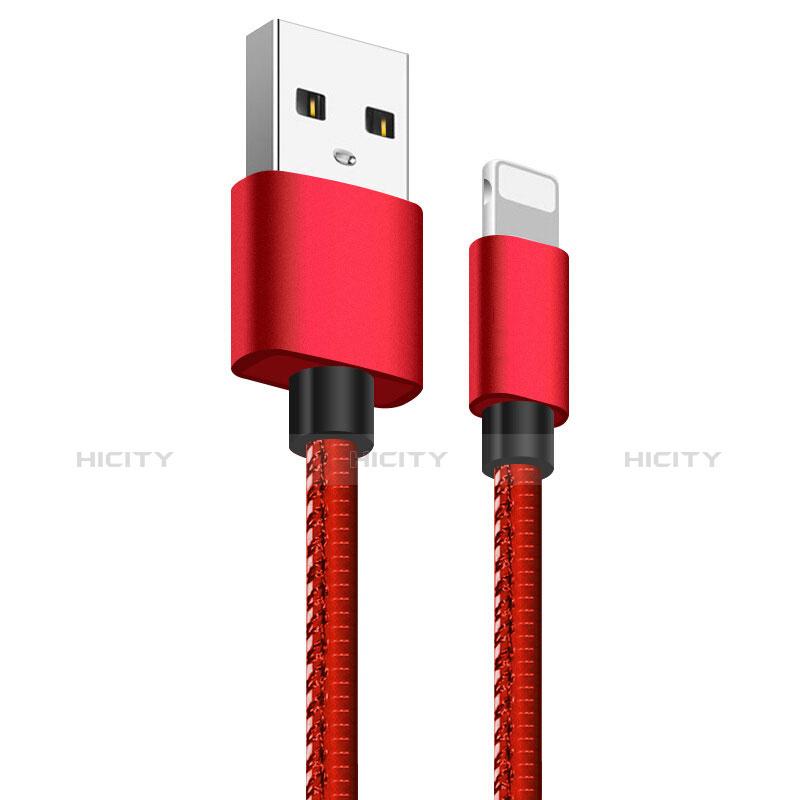 USB Ladekabel Kabel L11 für Apple iPhone 11 Rot Plus