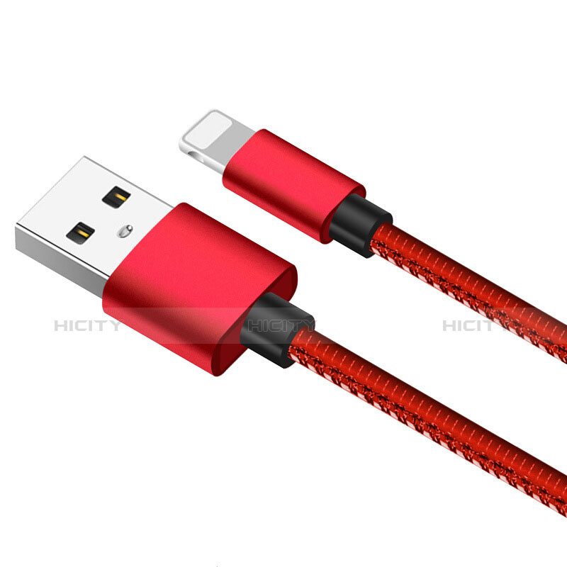 USB Ladekabel Kabel L11 für Apple iPhone 11 Rot groß