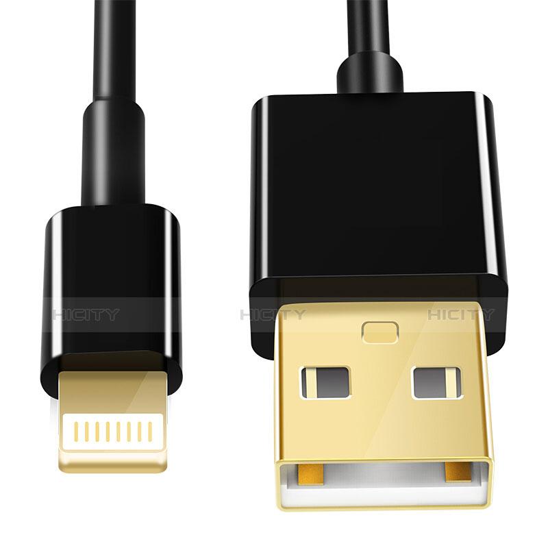 USB Ladekabel Kabel L12 für Apple iPhone 11 Pro Schwarz groß