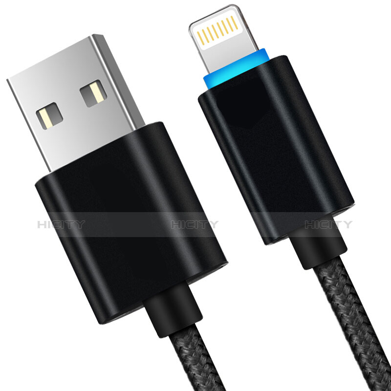 USB Ladekabel Kabel L13 für Apple iPhone 11 Pro Schwarz Plus
