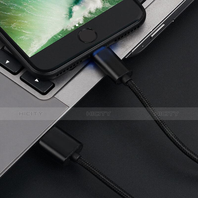 USB Ladekabel Kabel L13 für Apple iPhone 11 Pro Schwarz groß