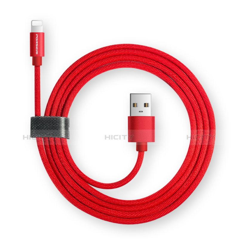 USB Ladekabel Kabel L14 für Apple iPhone 11 Schwarz groß