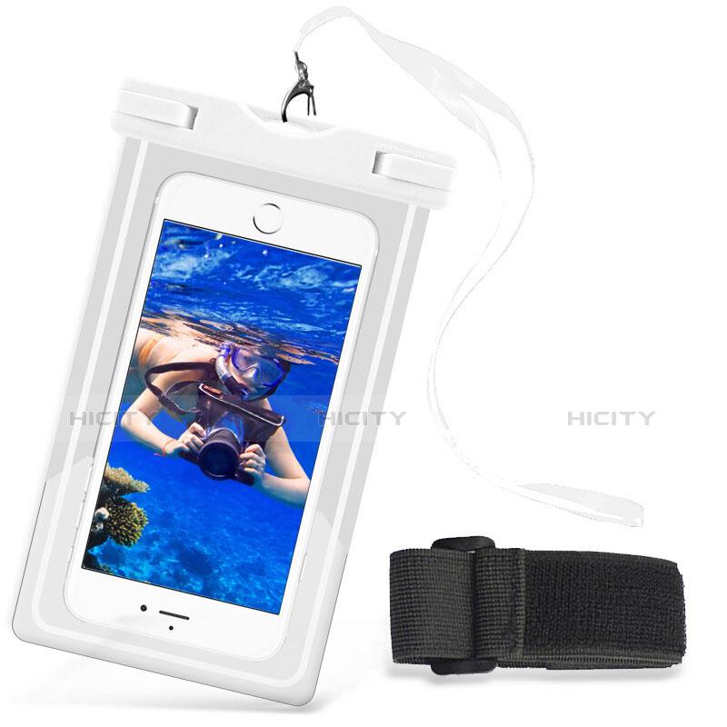 Wasserdicht Unterwasser Handy Tasche Universal W03 Weiß Plus