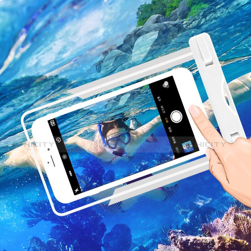 Wasserdicht Unterwasser Handy Tasche Universal W03 Weiß groß