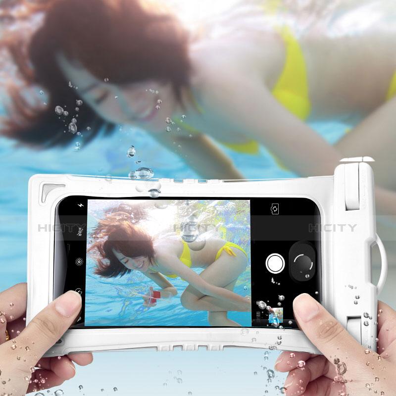 Wasserdicht Unterwasser Schutzhülle Tasche Universal Weiß groß