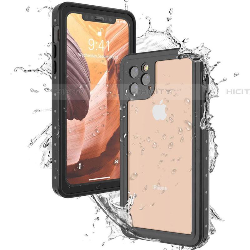 Wasserdicht Unterwasser Silikon Hülle Handyhülle und Kunststoff Waterproof Schutzhülle 360 Grad Tasche U01 für Apple iPhone 11 Pro Max Schwarz groß
