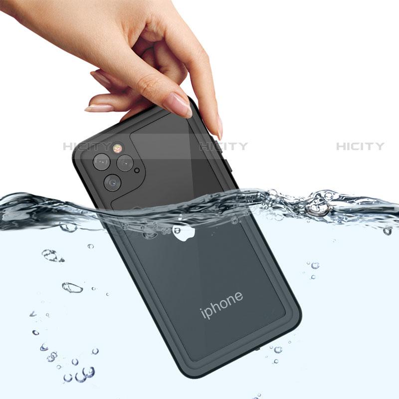 Wasserdicht Unterwasser Silikon Hülle Handyhülle und Kunststoff Waterproof Schutzhülle 360 Grad Tasche W01 für Apple iPhone 11 Pro Max Schwarz Plus