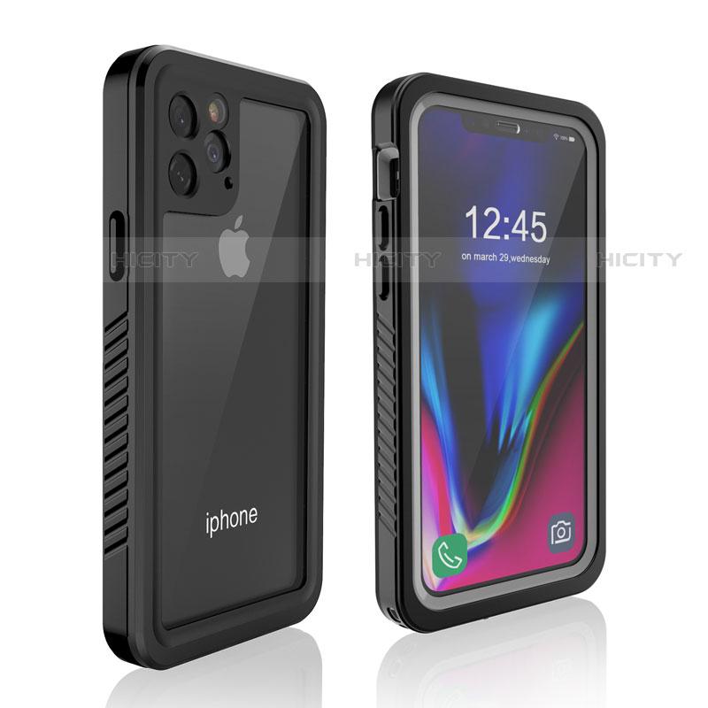 Wasserdicht Unterwasser Silikon Hülle Handyhülle und Kunststoff Waterproof Schutzhülle 360 Grad Tasche W01 für Apple iPhone 11 Pro Max Schwarz groß