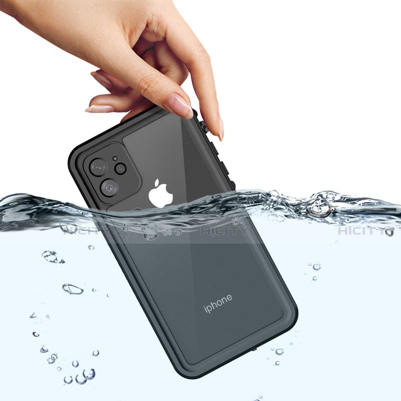 Wasserdicht Unterwasser Silikon Hülle Handyhülle und Kunststoff Waterproof Schutzhülle 360 Grad Tasche W01 für Apple iPhone 11 Schwarz Plus