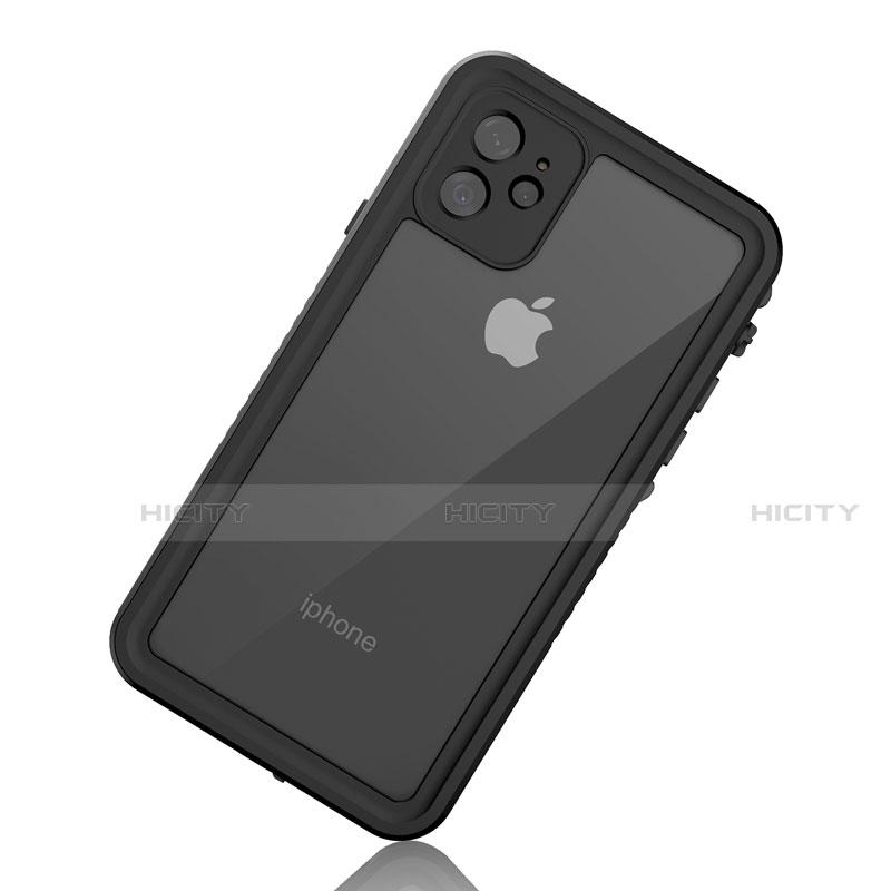 Wasserdicht Unterwasser Silikon Hülle Handyhülle und Kunststoff Waterproof Schutzhülle 360 Grad Tasche W01 für Apple iPhone 11 Schwarz groß