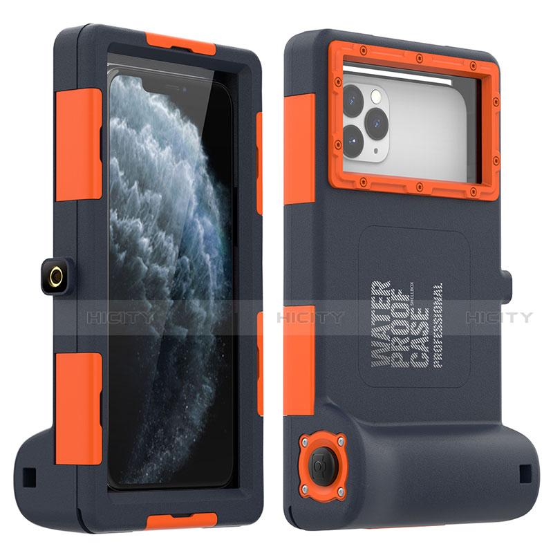 Wasserdicht Unterwasser Silikon Hülle und Kunststoff Waterproof Schutzhülle Handyhülle 360 Grad Ganzkörper Tasche für Apple iPhone 11 Pro Max groß