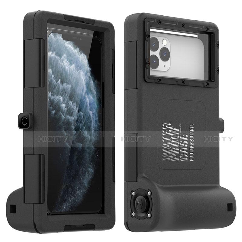 Wasserdicht Unterwasser Silikon Hülle und Kunststoff Waterproof Schutzhülle Handyhülle 360 Grad Ganzkörper Tasche für Apple iPhone 11 Pro Max Schwarz Plus